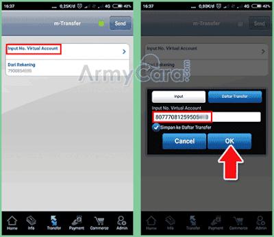 cara transfer virtual account bca melalui m banking