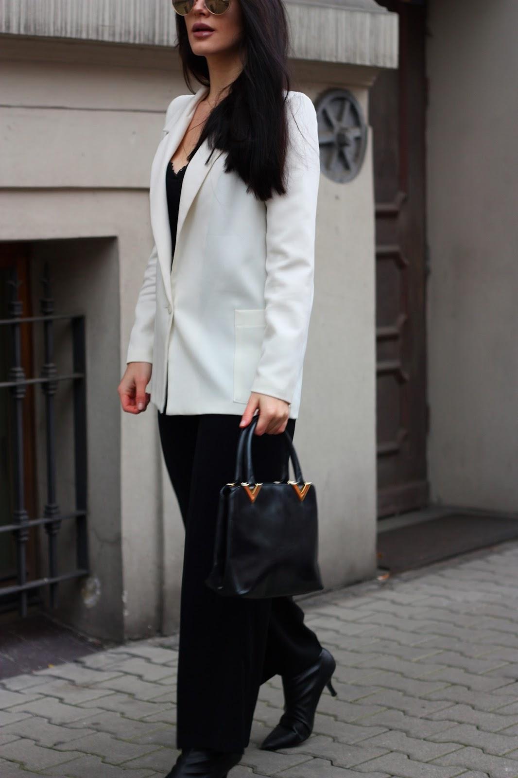 biała marynarka stylizacje, biała marynarka zara, biały żakiet stylizacje, eleganckie stylizacje
