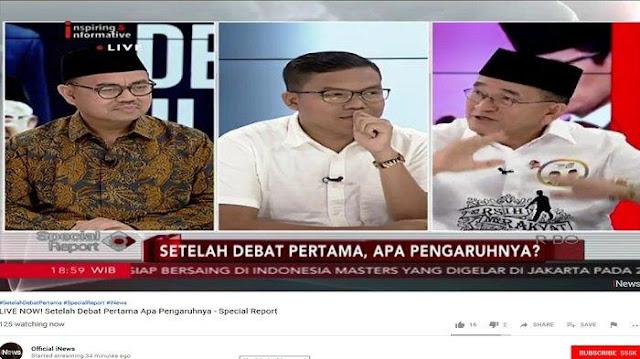 Tak Tahan Juga, Ruhut Sitompul Komentari Prabowo di Debat Capres-cawapres Pertama....