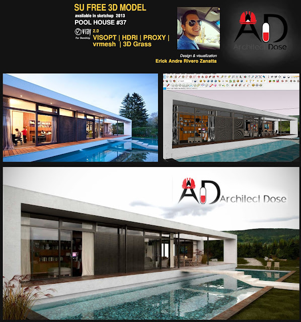 Free 3D Models - Modern House 4