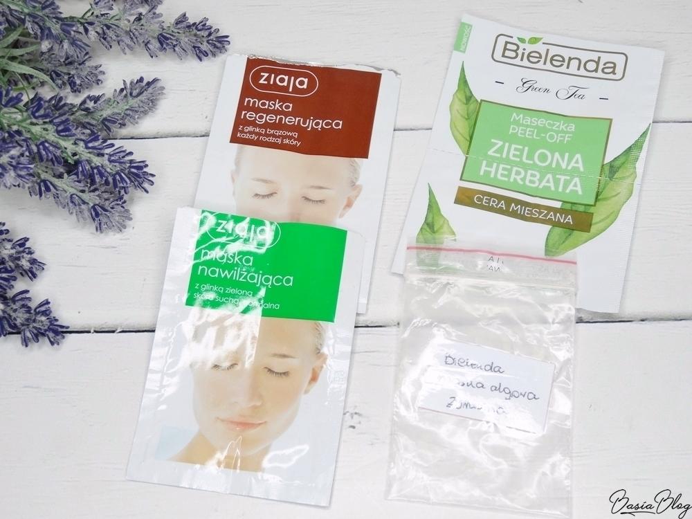 maseczki do twarzy Ziaja nawilżająca regenerująca Bielenda zielona herbata peel off algowa żurawinowa recenzja