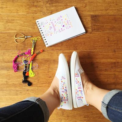 petitboutdechou summer shoes embroidery
