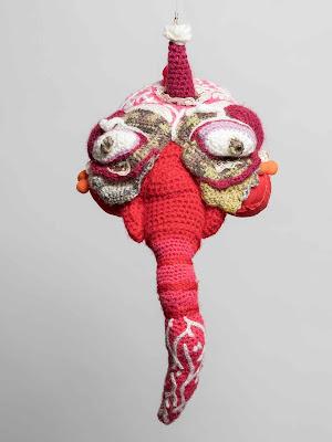 paty vilo, art crochet, art laine, art textile contemporain