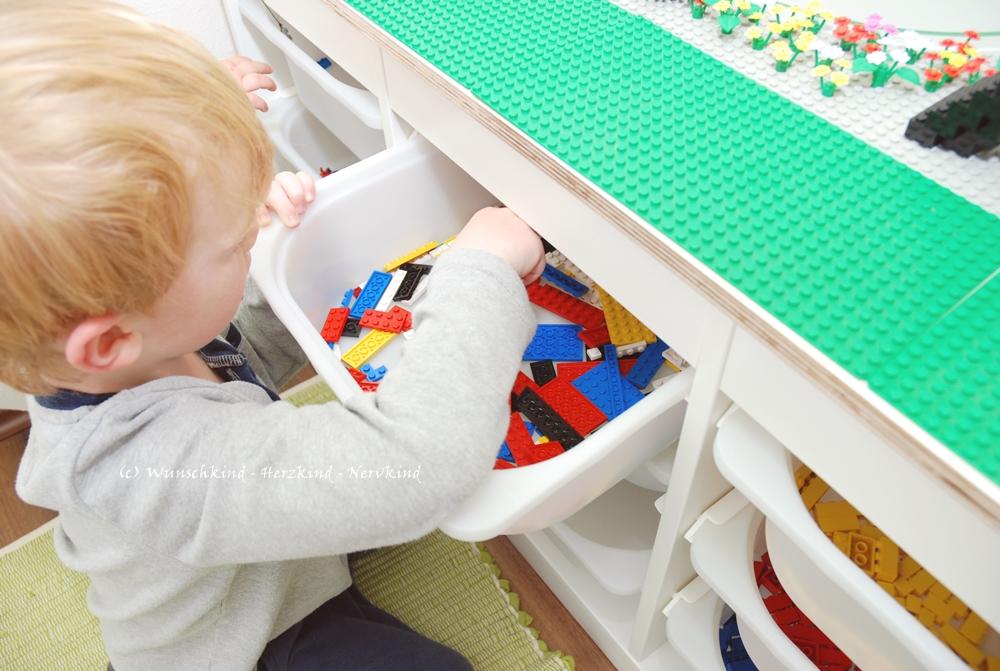 Wunschkind Herzkind Nervkind Unser Legotisch Ein Ikea Hack