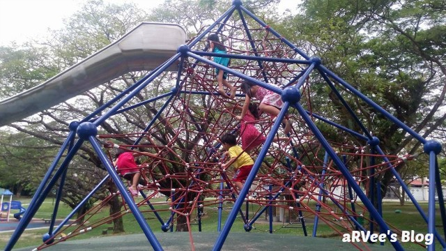 Kids having fun at a maze in Pasir Ris Park Singapore
