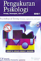 Pengukuran Psikologi – Prinsip, Penerapan, dan Isu – Psychological Testing Prinsiple, Applications, and Issues Edisi 7 Disertai CD Materi Pengarang : Robert M. Kaplan – Dennis P. Saccuzzo Penerbit : Salemba Humanika