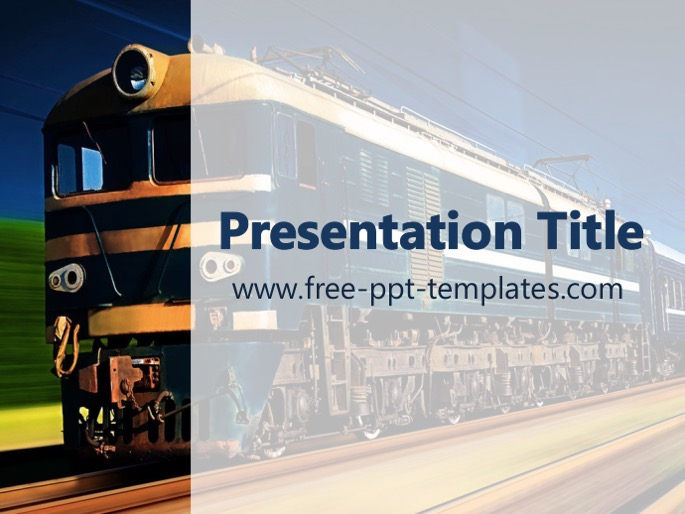 train ppt template