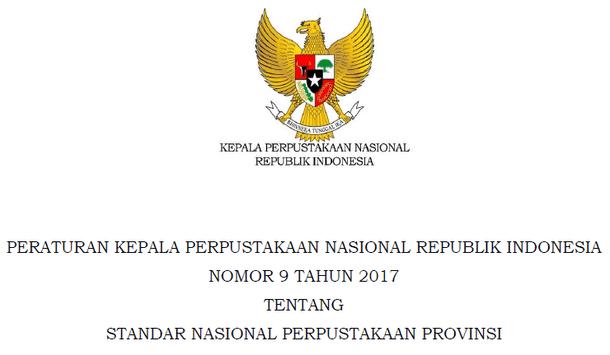 Standar Nasional Perpustakaan Provinsi