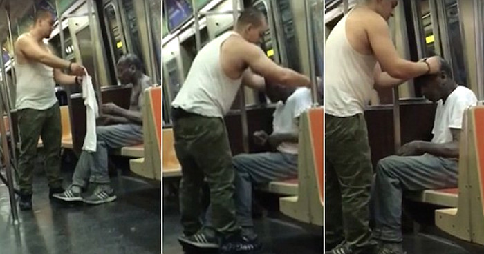 Heart-Warming Video Depicts Guy Giving His Shirt To A Homeless, Shivering Man