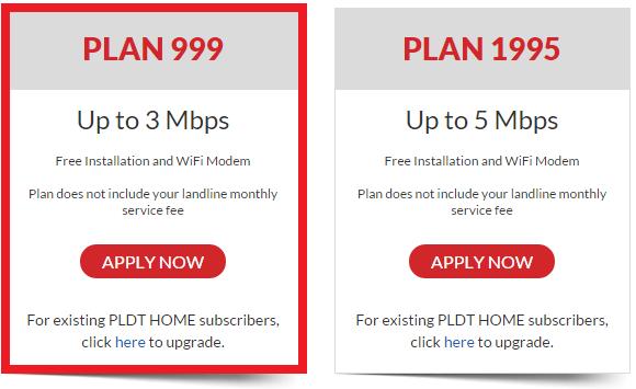 PLDT DSL Plan 999