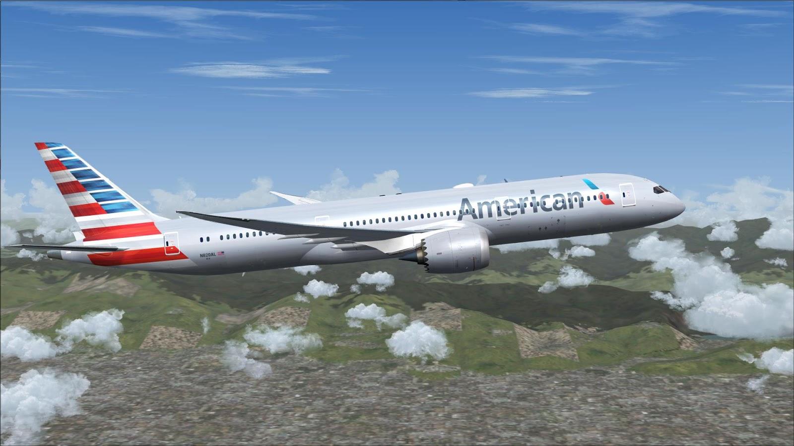 FSRepainter: TDS 787-9 American Airlines N820AL
