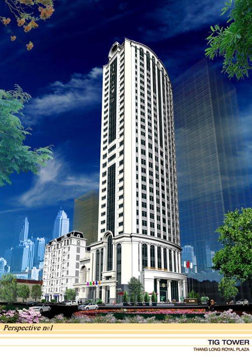 Phối cảnh chung cư Thăng Long Royal Plaza - TIG Tower