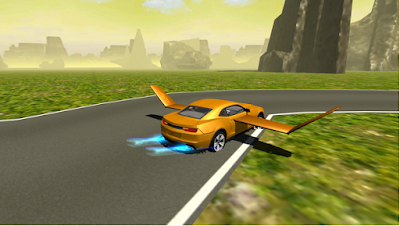 Flying Muscle Car Simulator 3D v2 Apk 3