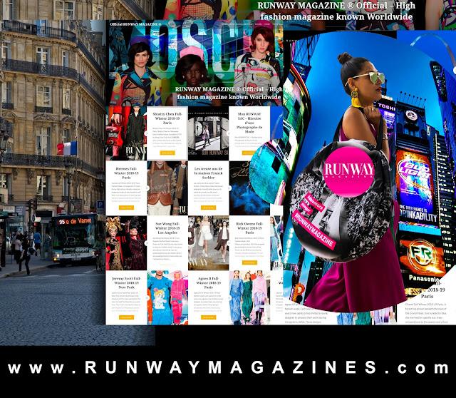 RUNWAY MAGAZINE ® Official  www.RUNWAYMAGAZINES.com