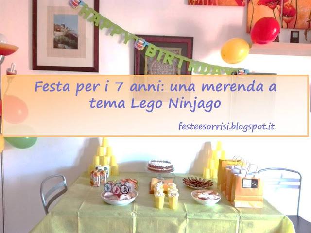 Allestimento per merenda a tema Lego Ninjago
