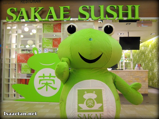 Sakae Sushi Berjaya Time Square with its Froggie mascot