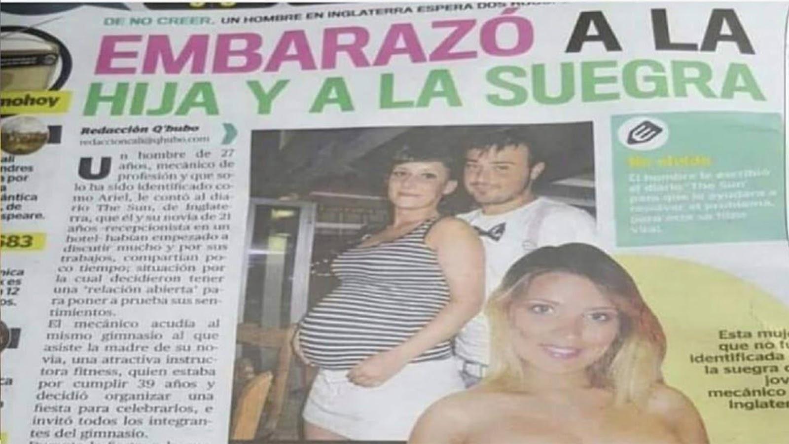 Joven embaraza a su novia y a su suegra al mismo tiempo - Nación Unida