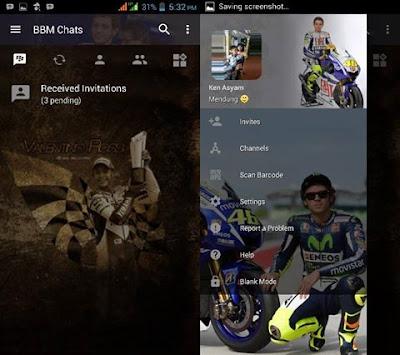 BBM Mod Valentino Rossi Transparan v3.2.5.12 APK