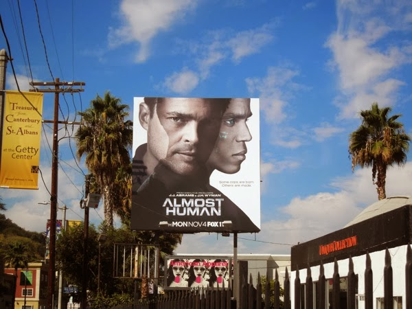 Almost Human TV billboard