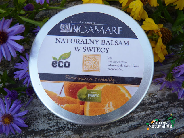 Bioamare - Balsam w świecy o zapachu pomarańczy z wanilią