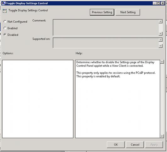 Display Size Fixes for Horizon View Desktop