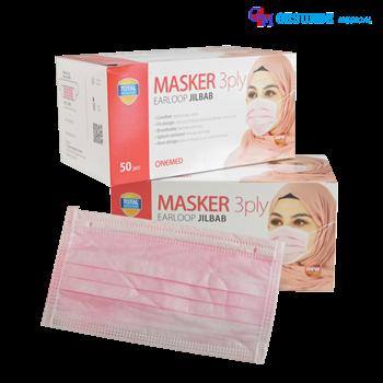 Masker Jilbab 3 Lapis Sekali Pakai | Alat Penutup Mulut Dan Hidung