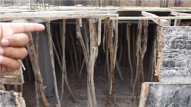 Basement wood shuttering construction