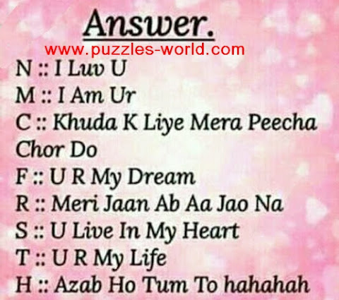 Answers to Choose 1 Alphabet : Whatsapp Game