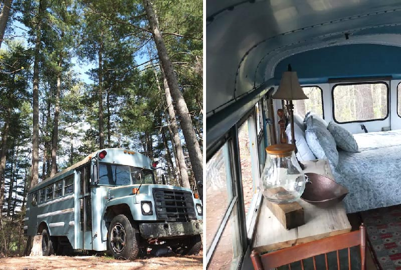 Airbnb Bus hippy nella foresta - Asheville