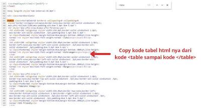 cara membuat tabel blog dengan ms word