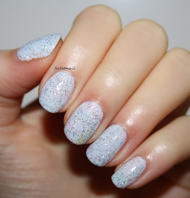 Glitter Pastel Spring Nail Art
