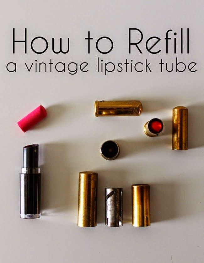 how to refill a vintage lipstick tube