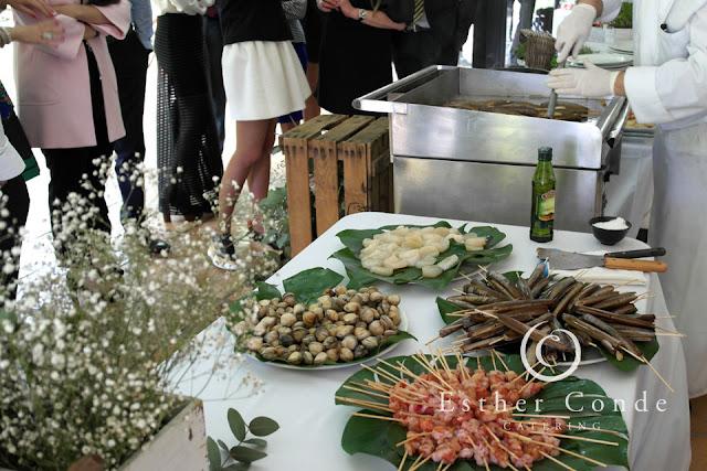 Buffet de marisco para una boda tipo coctel - Foto: Esther Conde