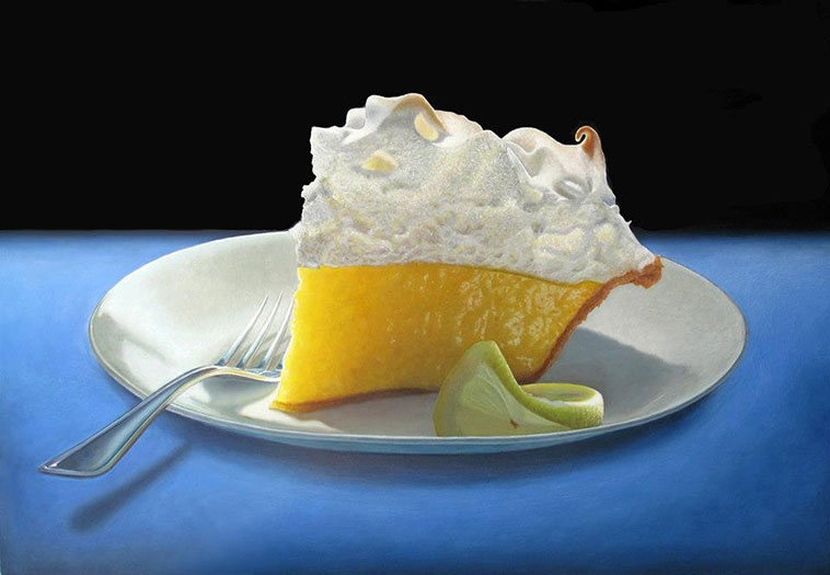 09-Lemon-Meringue-Mary-Ellen-Johnson-A-Sweet-Tooth-s-Dream-in-Food-Art-Paintings-www-designstack-co