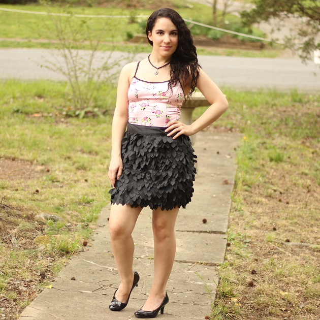 Pink Floral Corset Style Top