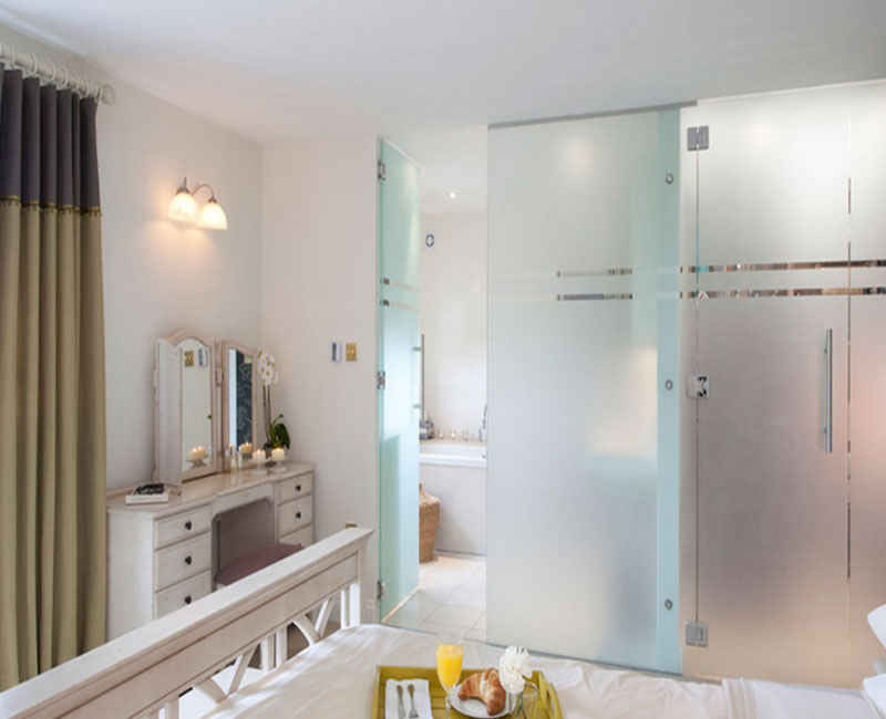 Frosted sliding glass door for bathroom home and garden for Opaque glass door for bathroom