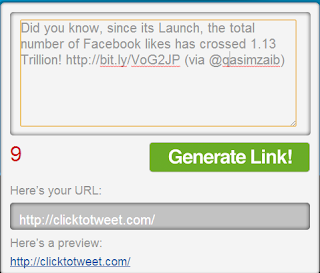 ClickToTweet interface