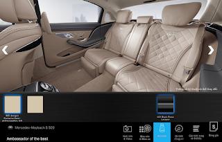Nội thất Mercedes Maybach S560 4MATIC 2019 màu Vàng Silk 965