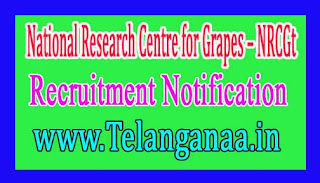 National Research Centre for Grapes – NRCG Recruitment Notification 2017