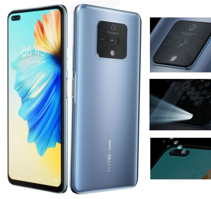 Tecno CAMON 16 Premier Photography Smartphone - Specs: 64MP Quad Camera, 6.9-Inch FHD, 128GB/8GB, 4500mAh Battery