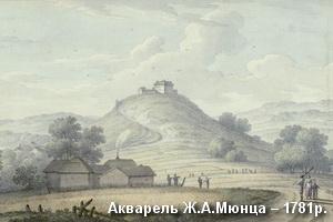 Замок на акварелі Мюнца 1781р.