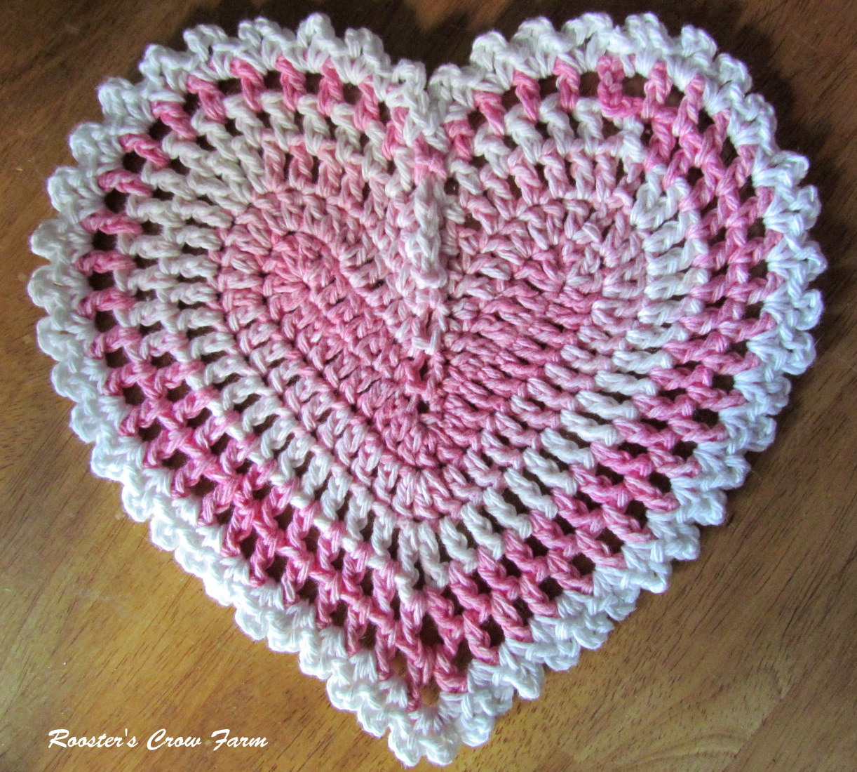 Rooster's Crow Farm: Crocheted Dishcloth Of The Month