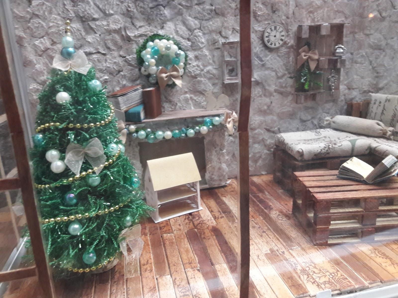 crafts by mirka: weihnachtliche roombox aus ikea gewächshaus für mit