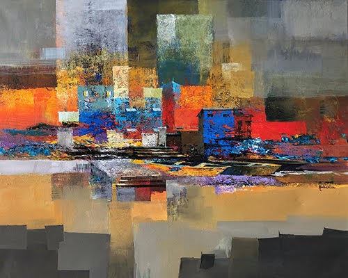 """Pradarshak presents abstract landscapes by Ambereen Dharamsey"""