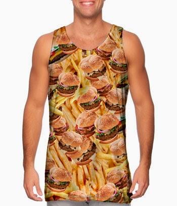 débardeur hamburger
