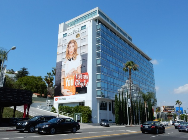 Giant Grace Helbig YouTube billboard Sunset Strip