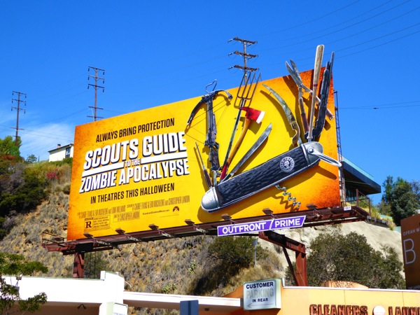Scouts Guide to the Zombie Apocalypse movie billboard