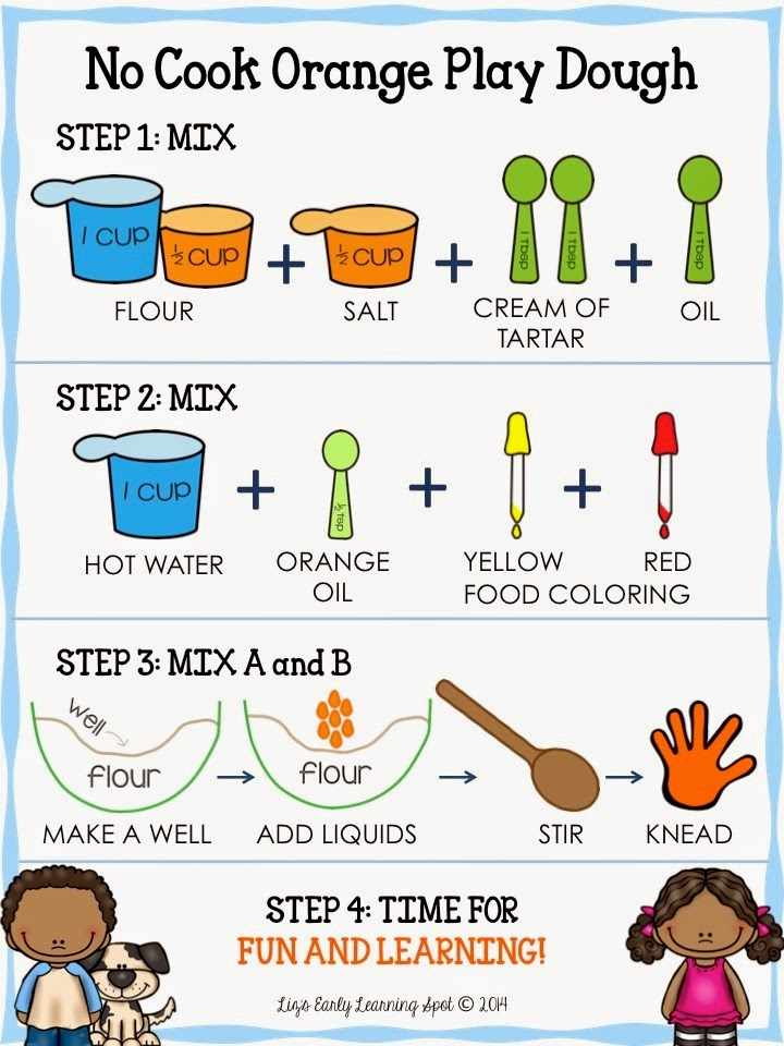 Classroom Freebies Too: Play Dough Recipe Card for Kids!