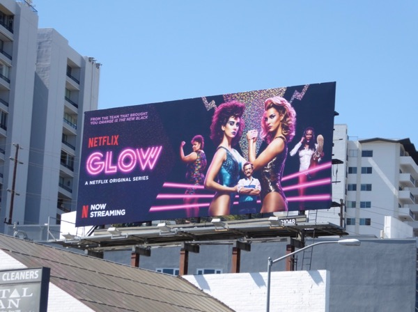 Glow series premiere billboard