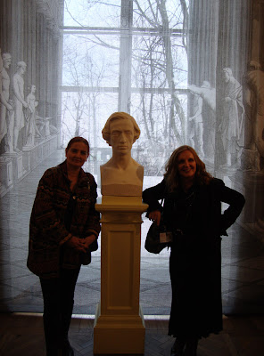 Kalicinska and Trochimczyk with marble Chopin bust, Warsaw
